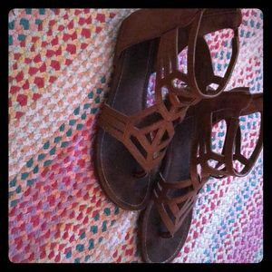 Gladiator brown sandals ankle high